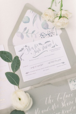 elegant wedding invitation santa barbara wedding shane vereen taylour rutledge watercolor envelope