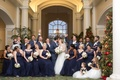 wintry bridal party newlyweds north carolina wedding bouquets catholic ceremony christmas love