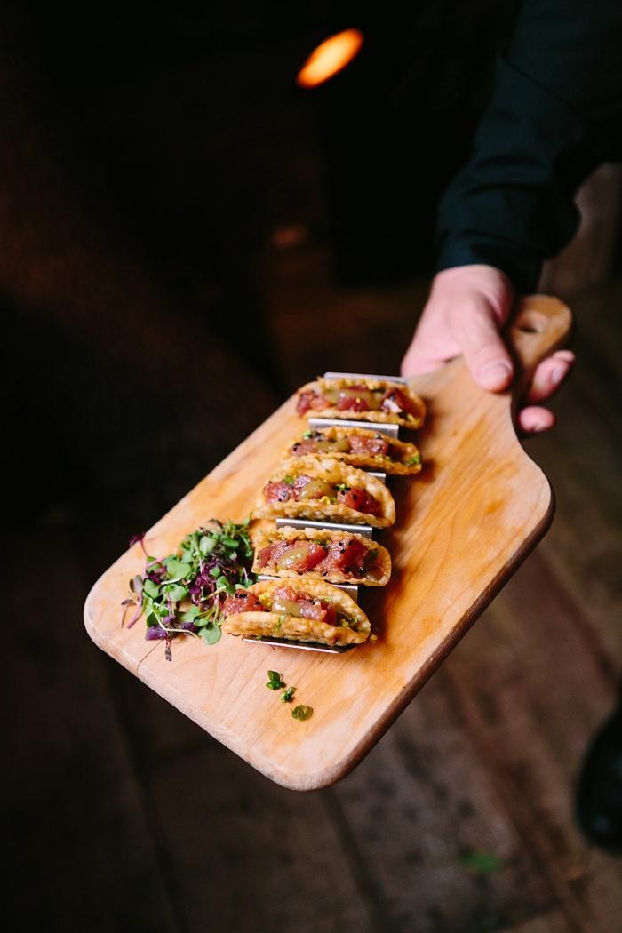 ahi tuna tartare tacos rustic chic