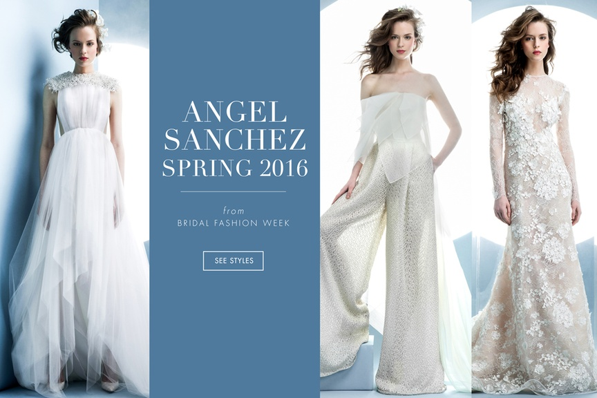 Wedding dresses from Angel Sanchez's spring 2016 collection