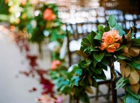 Garden wedding ceremony garland decoration