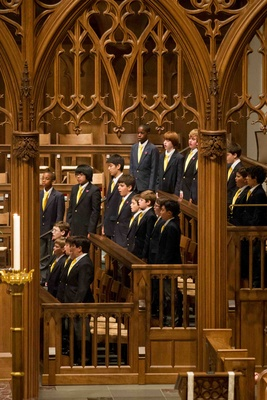 Houston Boys Choir performs at wedding ceremony