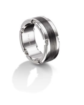 Furrer Jacot 71-29160 palladium and carbon fiber wedding band