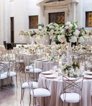 ohio statehouse wedding with color palette of blush, ivory, some greenery