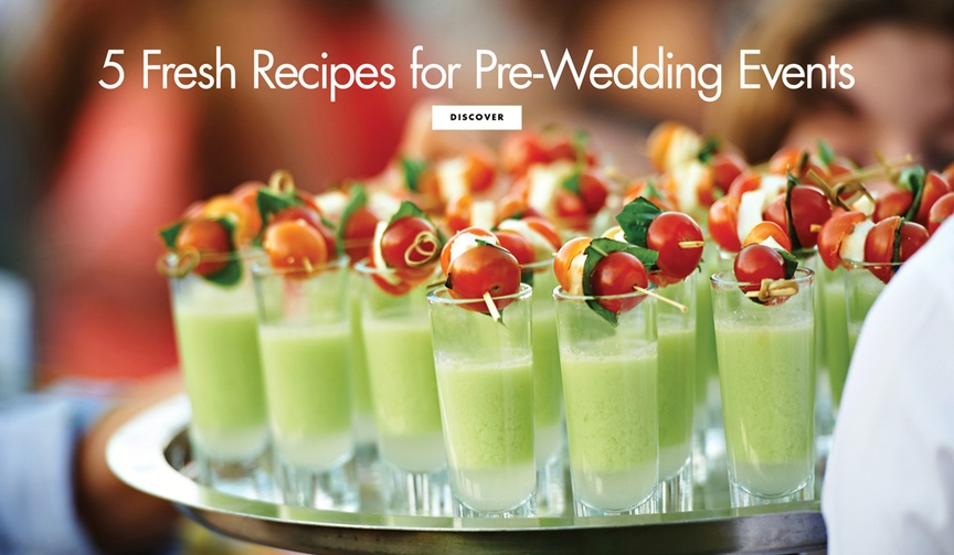 5 five recipes pre-wedding events engagement party bridal shower summer cat cora chef expert food