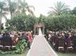 Jewish wedding ceremony in a garden