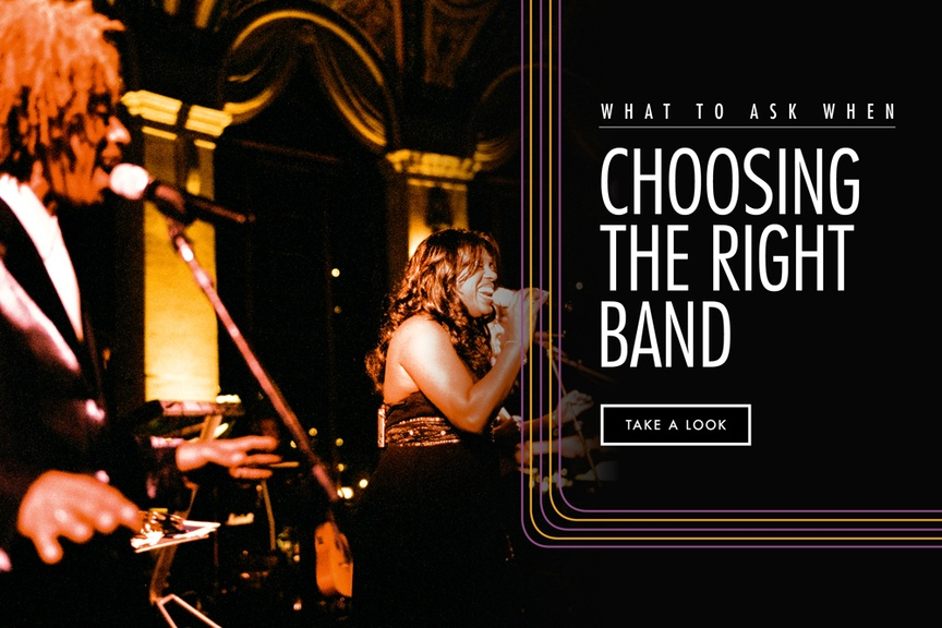 Choosing the right band, musician, or DJ for your ceremony and reception music is of the utmost impo