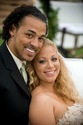 NFL Green Bay Packers player with wife