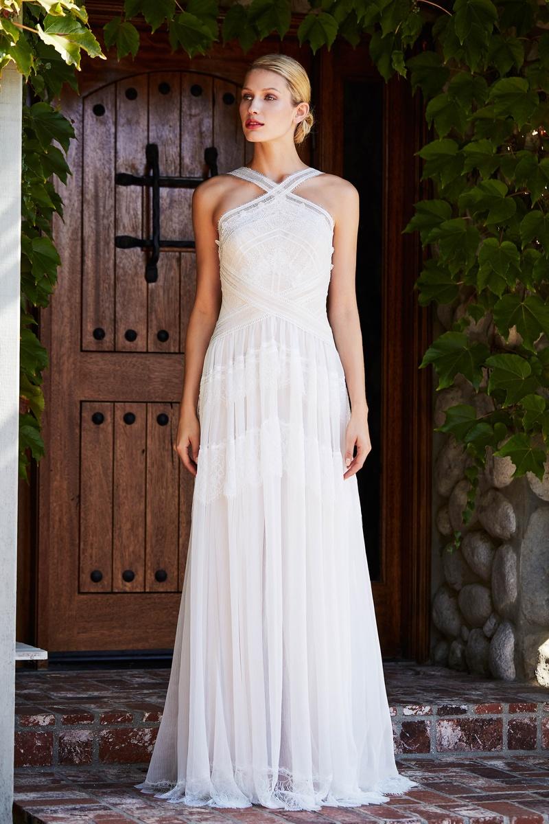 Wedding Dresses Photos - AVO18839LBR by Tadashi Shoji - Inside Weddings