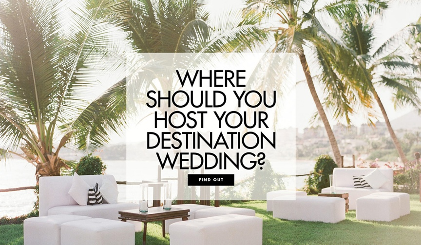 How to pick a location for a destination wedding where should you host it