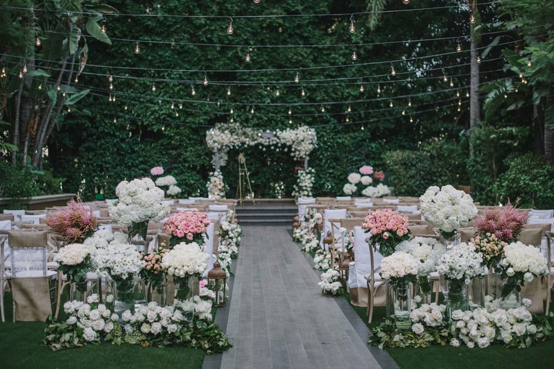 Four Seasons Hotel Los Angeles At Beverly Hills Outdoor Garden Wedding  Ceremony Mindy Weiss Designs