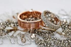 rose gold wedding band silver metallic wedding band jewelry for a wedding