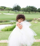 flower girl in full tulle skirt