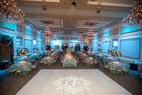 The Grand Marquise Ballroom with blue lighting