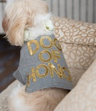 dog of honor shirt tuxedo cute wedding modern chicago gray gilt flower collar