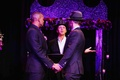 Shaun T gay wedding ceremony purple lighting