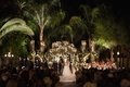 Coachella venue wedding ceremony at night