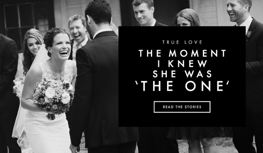 Grooms share how they knew their bride was the one
