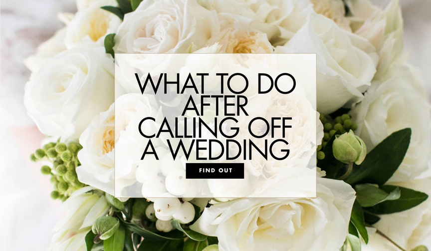 bridal bouquet with white flowers, what to do after you cancel a wedding