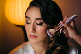 bride getting makeup done, bridal makeup inspiration, natural lipstick