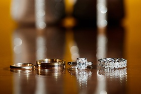 Wedding rings for groom and engagement ring radiant baguette two side stones eternity band diamonds