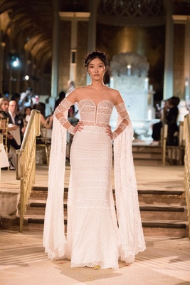 Idan Cohen Fall Winter 2018 Empire of Love wedding dress strapless bridal gown detachable sleeves