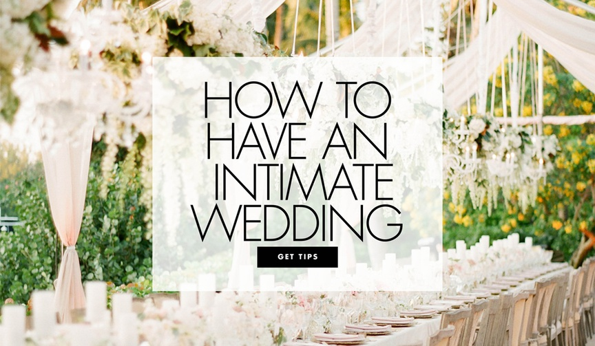 how to have an intimate wedding small wedding ideas and ceremony receptions