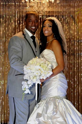 Kordell Stewart and Porsha Williams on wedding day