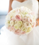 pink garden roses, blush traditional roses, ivory roses, bridal bouquet white rose