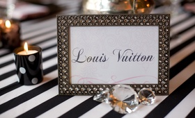 Framed table name card