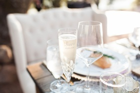 personalized champagne flutes bride crystal gifts sweet