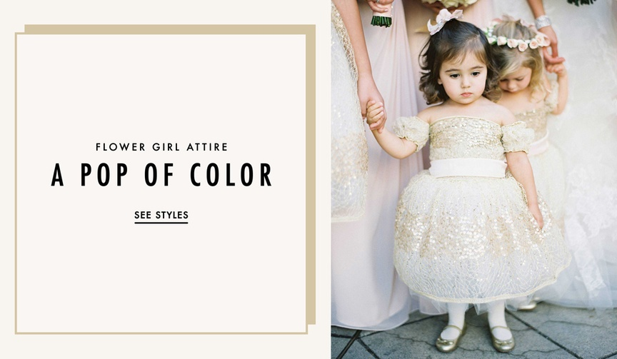Flower girl dresses in various colors other than all white