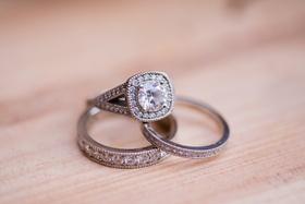 same-sex wedding engagement ring with splint shank