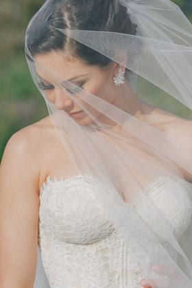Celebrity bride wearing Erica Koesler veil