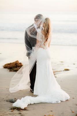 Wedding portrait ideas gerrit cole and amy crawford wedding portrait on beach in santa barbara