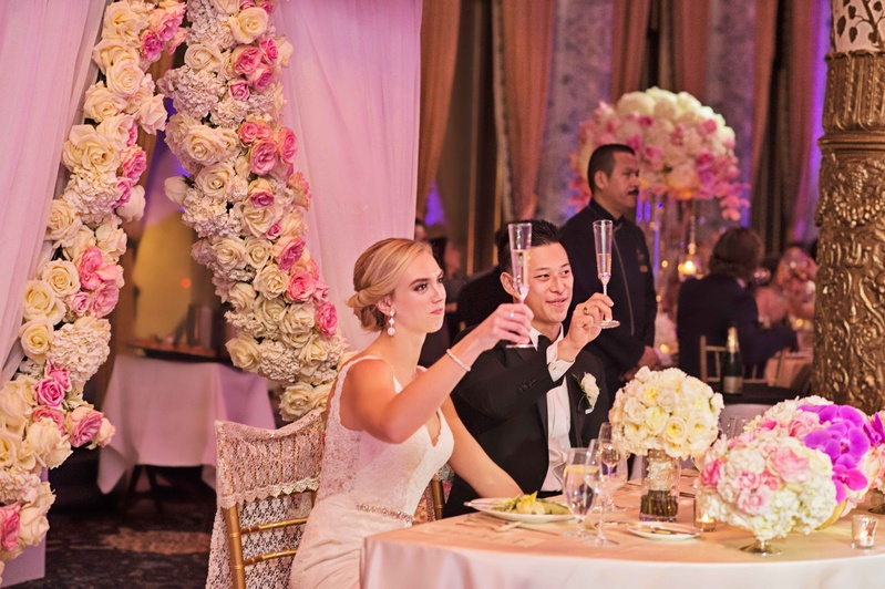 rob refsnyder of new york yankees and wife raise glasses for champagne toast