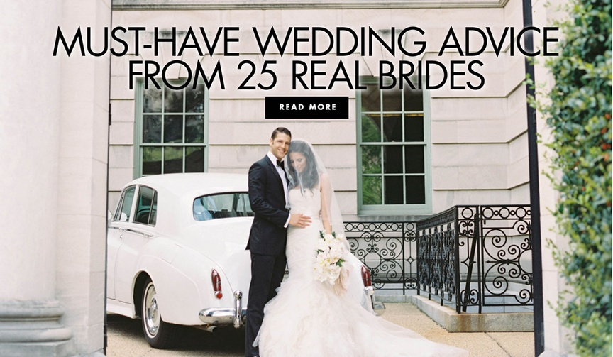 must have wedding advice from 25 real brides