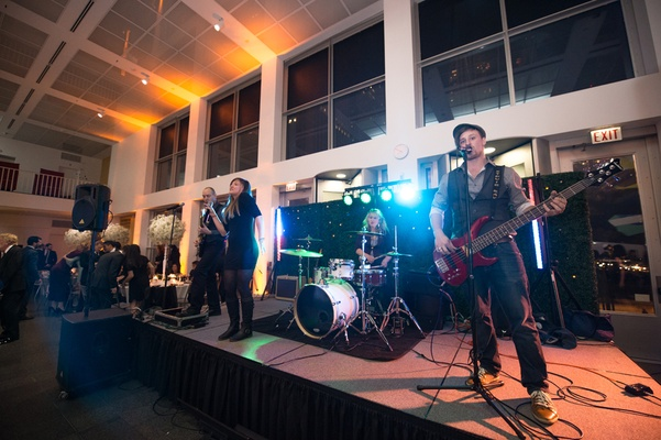 wedding band performing museum venue reception contemporary art chicago
