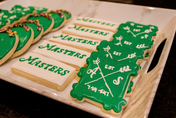 Pro Golfer 2017 Masters Tournament winner Sergio Garcia after party green white cookies golf theme