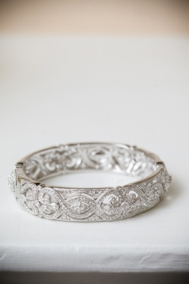Vintage-inspired diamond bracelet cuff