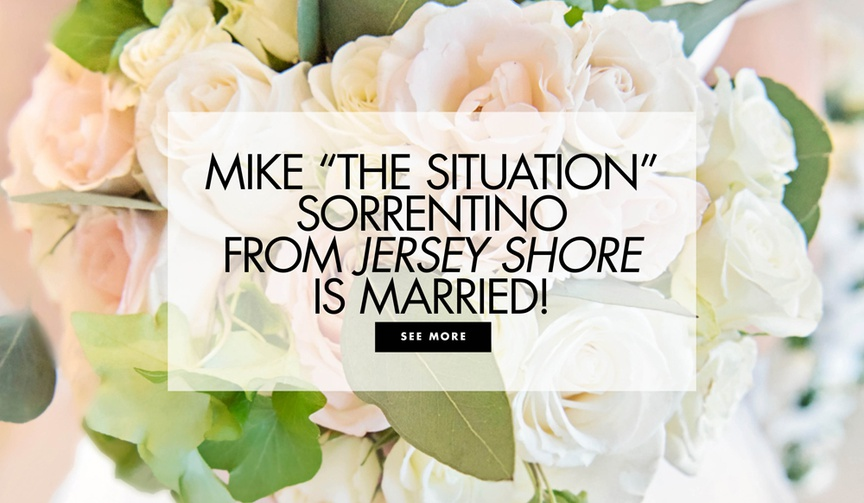 "Mike ""The Situation"" Sorrentino from 'Jersey Shore' and Lauren Pesce got married"