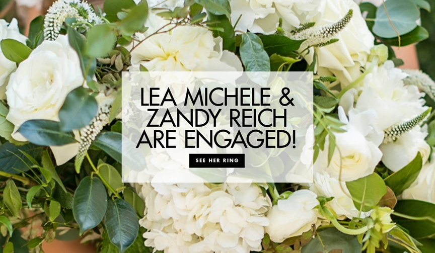 Her new fiancé Zandy Reich presented her with a gorgeous ring.