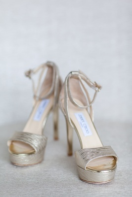 high heel platform bridal shoes jimmy choo metallic shiny classic