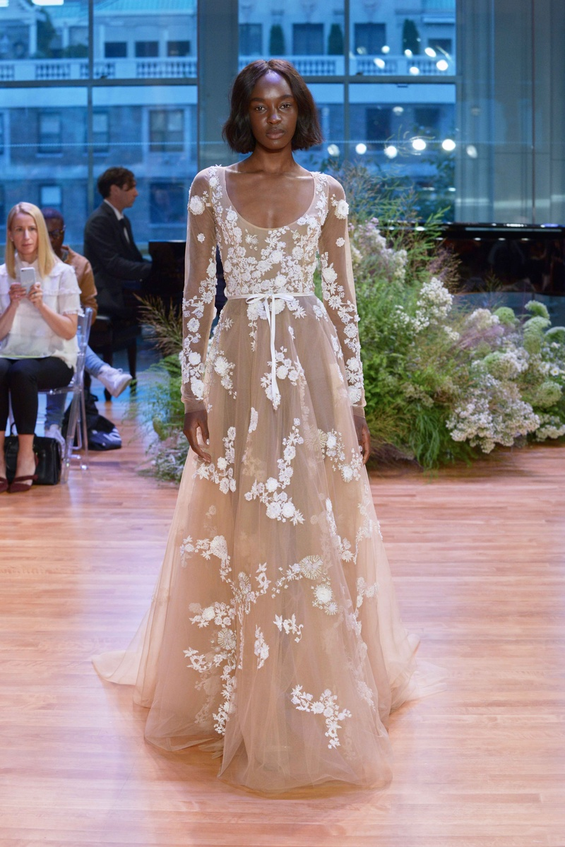 Flower Wedding Dress Monique Lhuillier