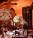 wedding reception ballroom grand del mar tall centerpiece white cream pink rose hydrangea orchid
