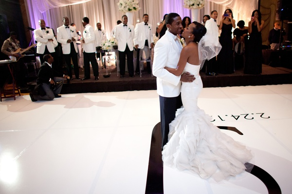 Jarett Dillard and bride's first dance at wedding