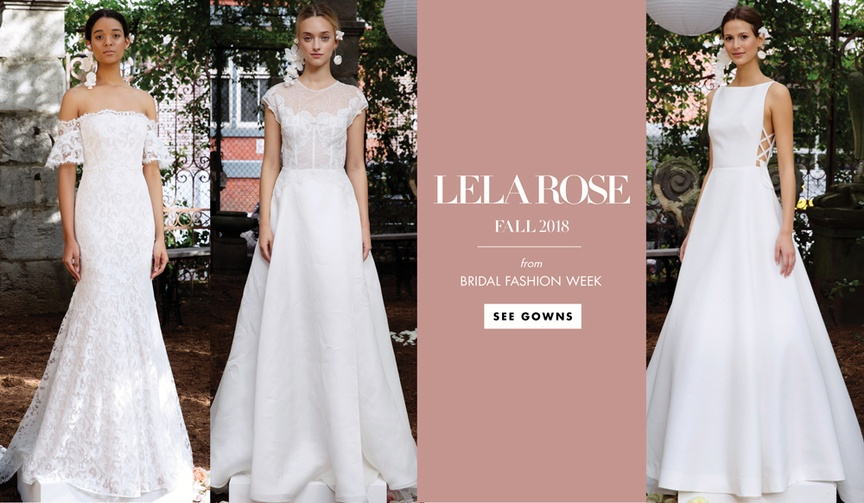Lela Rose fall 2018 bridal collection wedding dress bridal gown