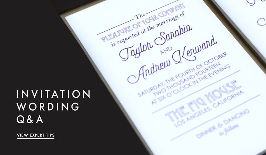 Wedding invitations wording tips and advice