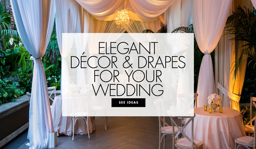 elegant decor and drapes for your wedding ceremony and reception drapery