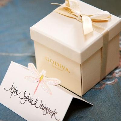 Sylvia Weinstock's Godiva wedding favor